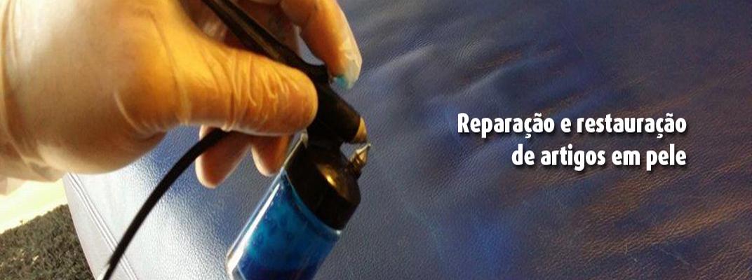 Reparaçao e restauração de artigos em pele